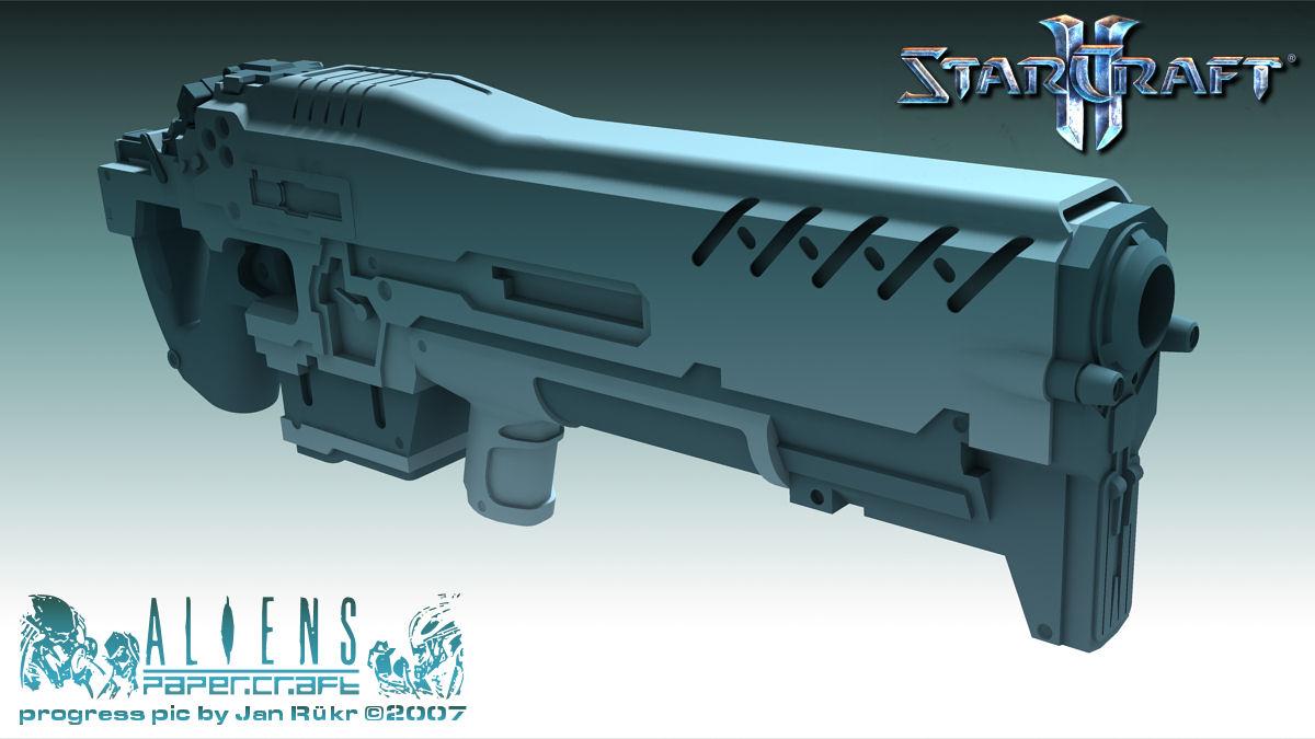 Terran Marine cannon - Starcraft 2