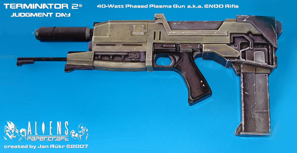 terminator endo rifle papercraft Phase plasma rifle in a 40 watt range alvaro marin  terminator endo rifle -finished papercraft - duration: 1:48 jan rükr 40,614 views 1:48.
